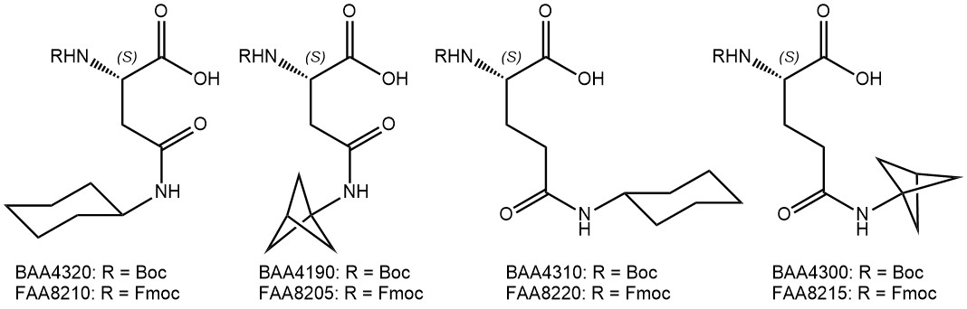 cyclohexyl- and bcp-aas