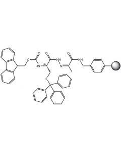 Fmoc-L-Cys(Trt)-NHN=Pyv Resin