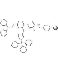 Fmoc-L-His(Trt)-NHN=Pyv Resin