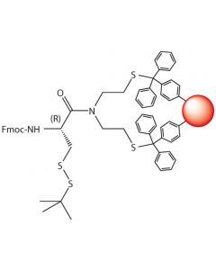 Fmoc-L-Cys(S-tBu)-SEA-PS resin