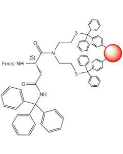Fmoc-L-Asn(Trt)-SEA-PS resin