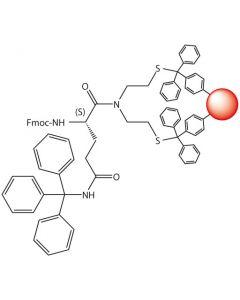 Fmoc-L-Gln(Trt)-SEA-PS resin