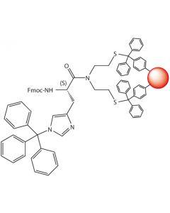 Fmoc-L-His(Trt)-SEA-PS resin