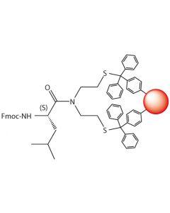 Fmoc-L-Leu-SEA-PS resin