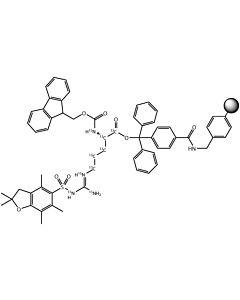 Fmoc-L-Arg(Pbf)-[13C6,15N4]-TCP-Resin