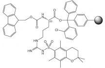 Fmoc-L-Arg(Pmc)-2Ct Resin