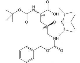 Boc-L-Orn(4R-OTIPS, 5-Z)-OH