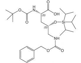 Boc-L-Orn(4S-OTIPS, 5-Z)-OH
