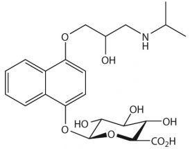 4-Hydroxy propranolol-O-beta-D-glucuronide