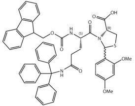 Fmoc-L-Gln(Trt)-L-Cys[PSI(Dmp,H)pro]-OH