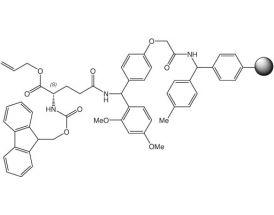 Fmoc-L-Gln(Rink-Resin)-OAll