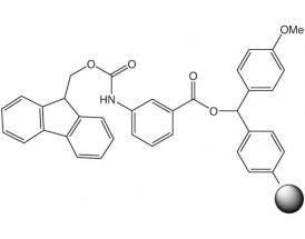 Fmoc-3-Aminobenzoic acid-4-methoxybenzhydryl resin