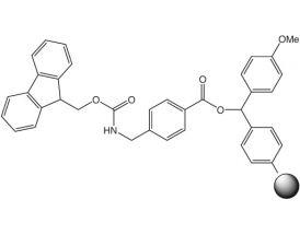 Fmoc-4-Aminomethylbenzoic acid-4-methoxybenzhydryl resin