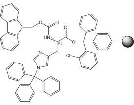 Fmoc-L-His(Trt)-2CT Resin