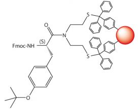 Fmoc-L-Tyr(tBu)-SEA-PS resin