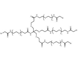 Bromoacetamido-PEG(12)-[PEG(11)-bromoacetamide]3