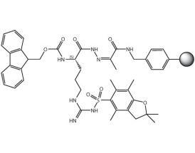 Fmoc-L-Arg(Pbf)-NHN=Pyv Resin