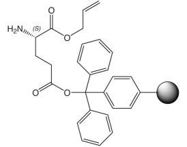 H-L-Glu(2CT Resin)-OAll