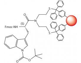 Fmoc-L-Trp(Boc)-SEA-PS resin