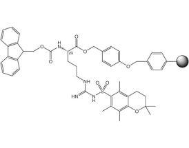 Fmoc-L-Arg(Pmc)-Wang resin