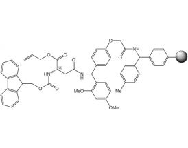 Fmoc-L-Asn(Rink-Resin)-OAll