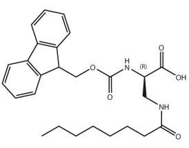 Fmoc-D-Dap(octanoyl)-OH