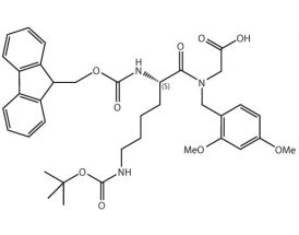 Fmoc-L-Lys(Boc)-DmbGly-OH