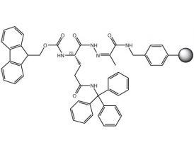Fmoc-L-Gln(Trt)-NHN=Pyv Resin