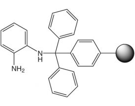 1,2-Diaminobenzene-trityl resin