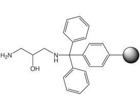 N-1,3-Diaminopropane-2-ol-trityl resin